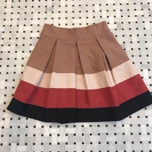 Zara pleated full skirt